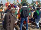 कृषि कानूनों के विरोध में रेलवे ट्रैक पर बैठे किसान; किसान संघर्ष समिति ने कहा- मांगे पूरी नहीं हुई तो आंदोलन को औरतेज किया जाएगा|कोटा,Kota - Dainik Bhaskar
