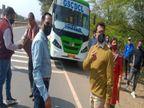 32 सीटर बस में बैठा रखी थीं 67 सवारी, जब्त कर थाने में खड़ी कराई|ग्वालियर,Gwalior - Dainik Bhaskar