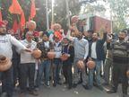 अभी तो मटकियां फोड़ रहे हैं, मांगे पूरी करो नहीं तो... 12 मार्च को नगर निगम के सामने होगा प्रशासन का दाह संस्कार|चंडीगढ़,Chandigarh - Dainik Bhaskar