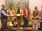 VHP नेता अशोक सिंघल के भतीजे ने 11 करोड़ दिए, कहा- चाचा का सपना पूरा होते देख खुशी हो रही|उदयपुर,Udaipur - Dainik Bhaskar