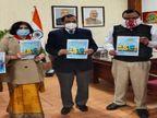रिलीज हुई कॉमिक किड्स, वायु एंड कोरोना:राइज ऑफ वैक्सीन-फॉल ऑफ कोरोना;वैक्सीन को लेकर बने मिथ को स्पष्ट करेगी|चंडीगढ़,Chandigarh - Dainik Bhaskar