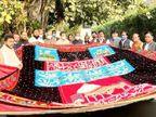 हैदराबाद में हाथ से तैयार की गई चादर; सोनिया-राहुल की तरफ से CM गहलोत आज पेश करेंगे|अजमेर,Ajmer - Dainik Bhaskar