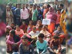 सरस्वती पूजा के विसर्जन जुलूस के दौरान घटना को दिया अंजाम, विरोध में ग्रामीणों ने पिठोरिया में किया सड़क जाम|रांची,Ranchi - Dainik Bhaskar