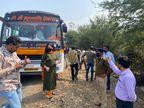 130 से ज्यादा बसों की जांच में सिर्फ 40 के कागजात सही मिले, 90 बसों से 74 हजार रुपए जुर्माना वसूला|इंदौर,Indore - Dainik Bhaskar