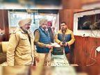 सुनार की दुकान का शटर तोड़ 8 किलो चांदी सोने के गहने और 90 हजार कैश ले गए चोर|होशियारपुर,Hoshiarpur - Dainik Bhaskar