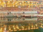 उज्जैन के महाकाल मंदिर में मना नर्मदा उत्सव, रंगबिरंगी रोशनी में नहाया मंदिर, बच्चों ने दी सांस्कृतिक प्रस्तुति|उज्जैन,Ujjain - Dainik Bhaskar