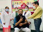 डॉक्टर्स ने ली वैक्सीन डोज, हेल्थ केयर वर्करों को फ्री में लगने वाली वैक्सीनेशन की सुविधा आज खत्म हाे रही|चंडीगढ़,Chandigarh - Dainik Bhaskar
