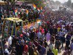 सैन्य सम्मान के साथ हुआ दाह संस्कार, शवयात्रा में उमड़े हजारों लोग, 28 जनवरी को ही छुटि्टयां बिताकर ड्यूटी पर लौटे थे जयपुर,Jaipur - Dainik Bhaskar