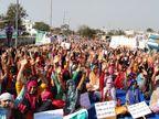धूप से बचने के लिए टेंट लगाए तो पुलिस ने रोका, अब आंदोलनकारियों की चिकित्सा मंत्री से आज होने वाली वार्ता से उम्मीद|जयपुर,Jaipur - Dainik Bhaskar