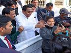 कांग्रेस नेता जायसवाल बोलीं - ऐसे लगा जैसे बम धमाका हुआ हो; लिफ्ट में धूल का गुबार था, कुछ दिखाई नहीं दे रहा था इंदौर,Indore - Dainik Bhaskar