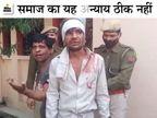 बुजुर्ग मां-बेटे समेत 3 को खंभे से बांधकर पीटा, रिक्शा चोरी के आरोप में मोहल्ले के लोग पकड़कर लाए; पुलिस ने बचाया|अलवर,Alwar - Dainik Bhaskar