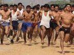 देश सेवा का जज्बा लिए सेना में शामिल होने के लिए बड़ी संख्या में उमड़े युवा, 2 हजार 312 अभ्यर्थियों ने लगाई दौड़ उदयपुर,Udaipur - Dainik Bhaskar