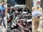 कार हादसे के बाद मृत 6 दोस्तों के कटे अंगों को पाॅलीथिन में लेकर गए दोस्त; लिफाफे में आए कफन के कपड़े, छोटू के स्टेटस को याद करते रहे दोस्त|इंदौर,Indore - Dainik Bhaskar