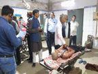 भोजपुर में छेड़खानी का विरोध करने गए थे; बदमाशों ने एक के पंजरे और दूसरे की कनपटी में घोंपा छुरा|भोजपुर,Bhojpur - Dainik Bhaskar