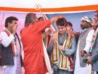 बृजवासियों के बीच प्रियंका गांधी का तंज- गोवर्धन पर्वत बचाकर रखिएगा, कल को सरकार इसे न बेच दे|उत्तरप्रदेश,Uttar Pradesh - Dainik Bhaskar