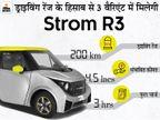 सिंगल चार्ज में 200 किमी. तक चलेगी मिनी इलेक्ट्रिक कार स्ट्रॉम R3, 10 हजार रुपए में कर सकते हैं बुकिंग|टेक & ऑटो,Tech & Auto - Dainik Bhaskar