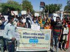 बेरोजगार नर्सेज ने जताया विरोध; 5 दिनों में भर्ती जारी नहीं करने पर आमरण अनशन की चेतावनी|अजमेर,Ajmer - Dainik Bhaskar