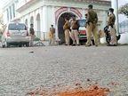 इकबाल-मिंटो हॉस्टल के लड़कों के बीच पत्थरबाजी-बमबाजी, हंगामा शांत कराने गए SI के चेहरे पर लगा पत्थर|पटना,Patna - Dainik Bhaskar