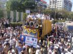 गुजरात निकाय चुनाव में 27 सीटें जीतने के बाद केजरीवाल का शक्ति प्रदर्शन, रोड-शो में उमड़ी भीड़|गुजरात,Gujarat - Dainik Bhaskar