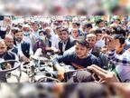 पेट्रोल-डीजल व रसोई गैस के दाम बढ़ने के विरोध में कांग्रेस की पदयात्रा, 3 घंटे जीटी रोड रहा जाम|पानीपत,Panipat - Dainik Bhaskar