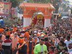 श्री गुरु रविदास महाराज जी के 644वें प्रकाश दिवस पर शहर में निकली भव्य शोभा यात्रा, बूटा मंडी में लगा जोड़ मेला|जालंधर,Jalandhar - Dainik Bhaskar
