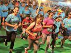इस बार जीतने नहीं, जीने के लिए दौड़ा इंदौर, पैर खो चुके ब्लेडरनर भी दौड़े, बोले-हम दौड़ सकते हैं तो आप क्यों नहीं|इंदौर,Indore - Dainik Bhaskar
