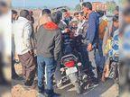गाड़ी में आए बदमाशों ने युवक काे अगवा कर पैर में मारी गोली|हिसार,Hisar - Dainik Bhaskar