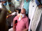 प्रदेश के स्वास्थ्य मंत्री जय प्रताप सिंह को लगी कोविड-19 टीके की पहली डोज, लखनऊ के 66 सेंटरों पर चल रहा है वैक्सीनेशन लखनऊ,Lucknow - Dainik Bhaskar