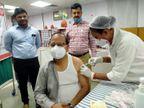 वाराणसी में कोरोना के टीकाकरण में स्वास्थ्य कर्मियों और फ्रंट लाइनरों से आगे निकले वरिष्ठ नागरिक, लक्ष्य से ज्यादा लोगों ने लगवाया टीका|वाराणसी,Varanasi - Dainik Bhaskar