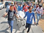 युवक काे चाेर बता पहले मजदूरों ने मारा, फिर पुलिस पर पीटने का आरोप; माैत रांची,Ranchi - Dainik Bhaskar