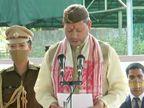 RSS के प्रांत प्रचारक रहे तीरथ सिंह रावत ने CM पद की शपथ ली, कहा- मैंने इतनी बड़ी जिम्मेदारी की कभी कल्पना नहीं की थी|देश,National - Dainik Bhaskar