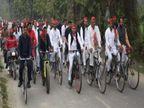 रामपुर में अखिलेश यादव ने निकाली साइकिल यात्रा, कहा- BJP के इशारे पर मुरादाबाद में किया गया हमला लखनऊ,Lucknow - Dainik Bhaskar
