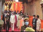 मां विंध्यवासिनी के दरबार में परिवार संग रामनाथ कोविंद ने लगाई हाजिरी, सीएम योगी भी रहे मौजूद|वाराणसी,Varanasi - Dainik Bhaskar