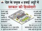दिल्ली, मुंबई, बेंगलुरु और हैदराबाद हवाई अड्डों की बची हुई हिस्सेदारी भी बेचेगी केंद्र सरकार बिजनेस,Business - Money Bhaskar