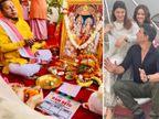 फिल्म के मुहूर्त की पूजा के बाद अक्षय कुमार ने लगाया 'जय श्री राम' का नारा, जैकलीन, नुसरत के साथ प्राइवेट प्लेन से पहुंचे थे अयोध्या|बॉलीवुड,Bollywood - Dainik Bhaskar