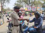 पलामू में अब भी बरत रहे लोग लापरवाही, ट्रैफिक पुलिस ने कोरोना के खतरे को समझाया; जमशेदपुर में बिना मास्क घूमने वालों से 500 रुपए वसूला जुर्माना|झारखंड,Jharkhand - Dainik Bhaskar