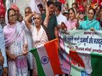 शहीद भगत सिंह की भांजी गुरजीत कौर ने तिरंगाफहराकर किसानों कोसिंघु बॉर्डर रवाना किया|पानीपत,Panipat - Dainik Bhaskar