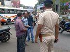 धनबाद के प्रमुख चौक-चौराहे पर चेकिंग, बिना मास्क के कार और बाइक चलाने वालों पर लगा जुर्माना|झारखंड,Jharkhand - Dainik Bhaskar