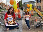 अमेरिका की नताली ने सड़क पर काटा बर्थडे केक, एक साल से खराब सड़क के प्रति प्रशासन का ध्यान आकर्षित करने के लिए किया ये काम|लाइफस्टाइल,Lifestyle - Dainik Bhaskar