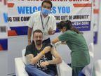 संजय दत्त ने कोरोना वैक्सीन का पहला डोज लगवाया, फोटो शेयर कर डॉक्टर्स की टीम को दी बधाई|बॉलीवुड,Bollywood - Dainik Bhaskar