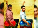आमिर खान के बाद अब आर माधवन हुए कोविड पॉजिटिव, 'थ्री ईडियट्स' से फनी फोटो शेयर कर बोले-फरहान को तो रैंचो को फॉलो करना ही था|बॉलीवुड,Bollywood - Dainik Bhaskar