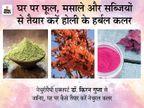 नीम से हरा, पलाश से केसरिया और हल्दी से पीला रंग तैयार करें, ये हर्बल रंग स्किन के लिए फायदेमंद, जानिए इन्हें कैसे तैयार करें लाइफ & साइंस,Happy Life - Dainik Bhaskar