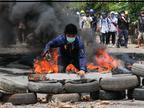 आर्म्ड फोर्सेज डे पर सुरक्षाबलों और तख्तापलट के विरोधियों के बीच कई शहरों में झड़प, 114 लोगों की मौत|विदेश,International - Dainik Bhaskar
