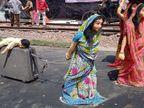 कोरोना के दर्द को झांकियों में दर्शाया, देखने उमड़े रहे लोग;आयोजकों का मत- इंसानों को सीख देने के लिए आई महामारी कोटा,Kota - Dainik Bhaskar