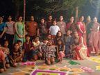 कोटा में महिलाएं और बच्चों ने भी संभाली कमान, उत्साह व जोश के साथ किया होलिका दहन|कोटा,Kota - Dainik Bhaskar
