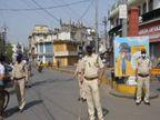 गली-चौराहे पर बैठी पुलिस, चप्पे-चप्पे पर निगरानी, बंदिशों में जली होलिका, होली भी मनाना होगा घर में|जबलपुर,Jabalpur - Dainik Bhaskar