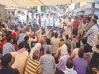 50 लाख का मुआवजा व सरकारी नौकरी की मांग पर 20 घंटे दिया धरना, आश्वासन पर माने श्रीमाधोपुर,Shrimadhopur - Dainik Bhaskar