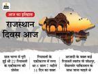 आज ही के दिन 1949 में बना था राजस्थान, राजपूताना की 22 रियासतों को मिलाने में लगे थे 8 साल 7 महीने 14 दिन|देश,National - Dainik Bhaskar