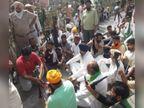 किसानों ने डिप्टी CM के आवास को घेरा, दुष्यंत चौटाला बोले-होगी सख्त कार्रवाई; 6 फसलें MSP पर खरीदवाकर देंगे ओछी राजनीति करने वालों को जवाब|हरियाणा,Haryana - Dainik Bhaskar