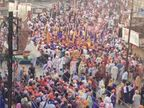 लॉकडाउन में धार्मिक जुलूस निकालने से रोका; गुरुद्वारे से निकली भीड़ ने पुलिसवालों को डंडों से पीटा, 4 घायल महाराष्ट्र,Maharashtra - Dainik Bhaskar